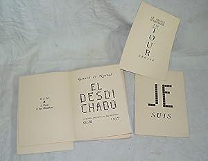 El Desdichado interprétation Typographique par Guy LEVIS-MANO.: NERVAL (Gérard de) :