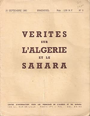 Vérites sur l'Algérie et le Sahara n°8