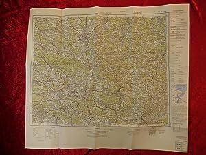 Doppelblatt (doppelseitig bedruckte Landkarte, Notdruck aus der: Preußische Landesaufnahme /