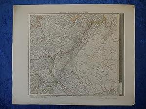 Frühe Stieler-Landkarte der Gegend um Wien, Preßburg,: Landkarte Stieler.