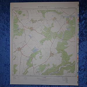 Landkarte der Umgebung von Peuschen, Bahren, Bahrenteich,: Hergestellt: Ministerium des