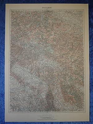 Landkarte im Maßstab 1:200.000 der Gegend um: Herausgegeben vom Militärgeographischen