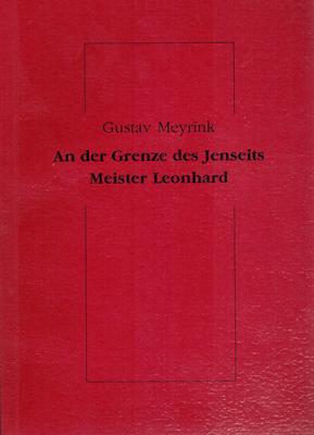 An der Grenze des Jenseits. / Meister: Meyrink, Gustav (Ps.)