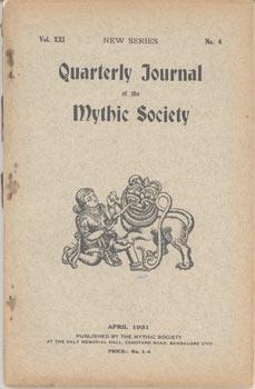 Quarterly Journal of the Mythic Society. (48 Bde./Ausg., 1930-1966).: Mythic Society (Publisher):