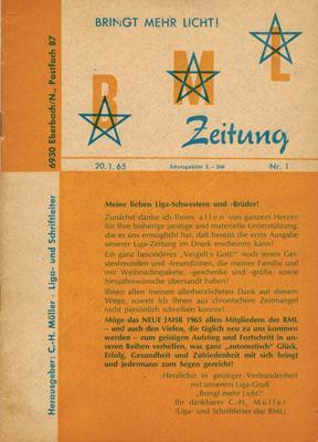 BML [Bardon-Müller-Liga] Zeitung. Nr. 1-10 (in 9 Heften).: Müller, C[uno] H[elmut] (Hrsg.):