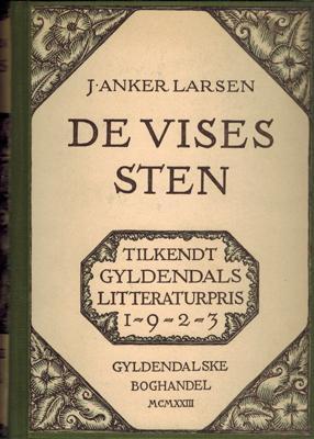 De Vises Sten.: Larsen, J. Anker: