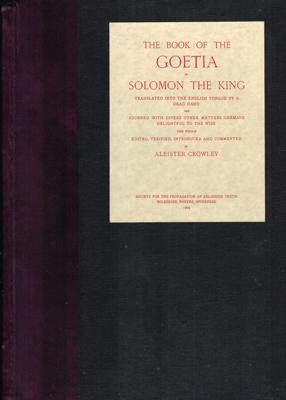 The Book of the Goetia of Solomon the King.
