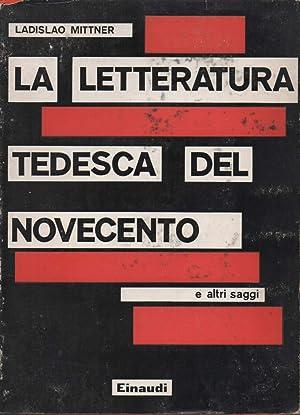 LA LETTERATURA TEDESCA DEL NOVECENTO: Mittner, Ladislao