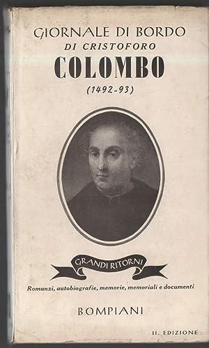 GIORNALE DI BORDO DI CRISTOFORO COLOMBO (1492-1493): Colombo, Cristoforo