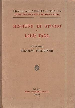 MISSIONE DI STUDIO AL LAGO TANA -: AA. VV.