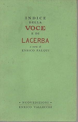 INDICE DELLA VOCE E DI LACERBA: Falqui, Enrico(a cura