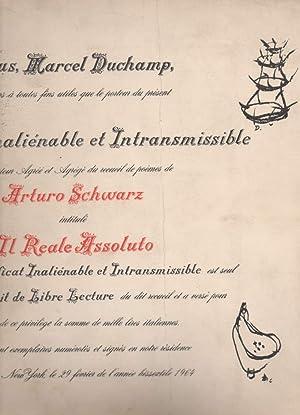 IL REALE ASSOLUTO illustrato da Marcel Duchamp: Schwarz, Arturo
