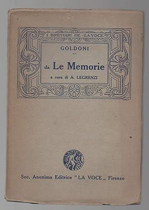 MEMORIE pagine scelte e annotate a cura: Goldoni, Carlo