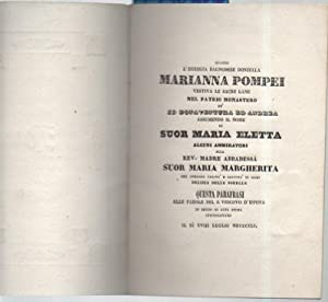 QUANDO L'EGREGIA BAGNORESE DONZELLA MARIANNA POMPEI vestiva: Bonfiglioli, Med. C.