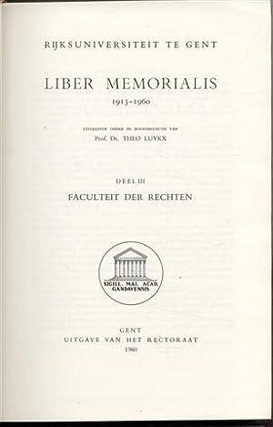 Liber memorialis 1913-1960: Faculteit der rechten (Volume: Luykx Théo
