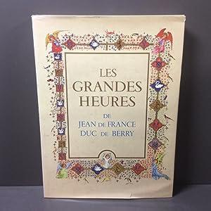 Les Grandes Heures de Jean de France: Marcel Thomas