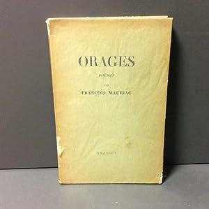 Orages, poèmes: Mauriac François