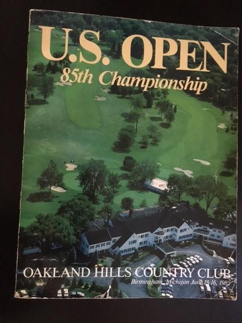 1985 U.S. Open Championship Program Very Good Softcover