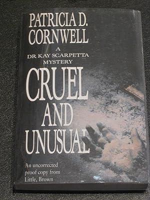 Cruel and Unusual: Patricia D. Cornwell