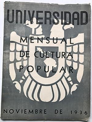 Universidad Mensual de Cultura Popular , Noviembre: Miguel N Lira