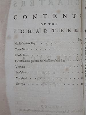 The Charters of the British Colonies in America.: unknown]