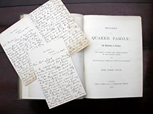 Records of a Quaker Family: The Richardsons of Cleveland.: Boyce, Anne Ogden.