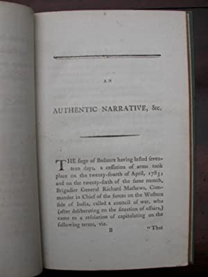 An authentic narrative of the treatment of the English, who were taken prisoners on the Reduction ...
