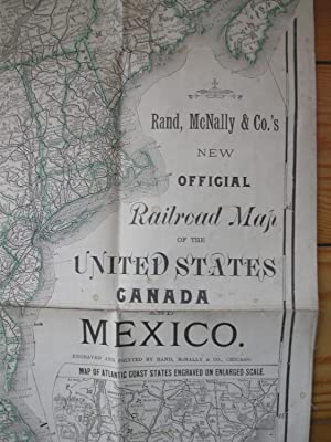 Rand, McNally & Co. New Official Railroad Map of the United States, Canada and Mexico.: Rand ...
