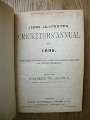 James Lillywhite's Cricketers' Annual 1895, 1896 1897,1898,1899.: LILLYWHITE, James. [...