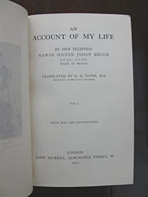 An Account of My Life. Two Volumes. Magnificent Bindings from the Library of Queen Mary.: Sultan ...