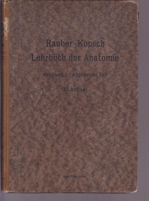 rauber s lehrbuch der von kopsch fr - ZVAB