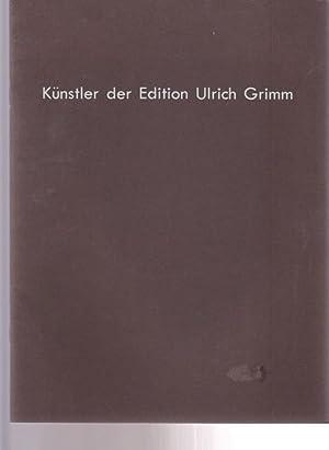 Künstler der Edition Ulrich Grimm. Siebdrucke von