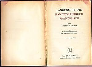 Langenscheidts Taschenwörterbuch der französischen und Deutschen Sprache.Erster: Dr. Lange -