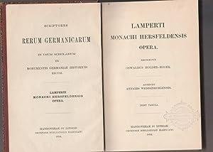 Lamperti Monachi Hersfeldensis Opera. Accedunt Annales Weissenburgenses.: Holder- Egger, Oswaldus:
