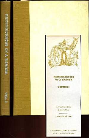 Reminiscences of A Ranger (Vol. 1): Bell, Horace