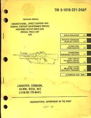 Launcher, Grenade, 40-MM, M203,W/E (1010-00-179-6447) : Technical: Army Staff