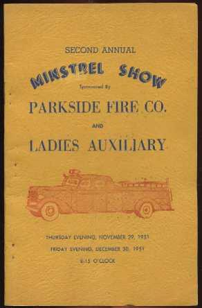 Second Annual Minstrel Show (Sponsored By Parkside Fire Co & Ladies Auxiliary): Dailey, Charles...