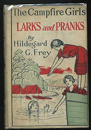 The Campfire Girls larks and Pranks or The House of the Open Door: Frey, Hildegard G.