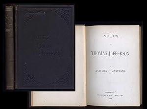 Notes on Thomas Jefferson By a Citizen of Maryland: Anokhina,