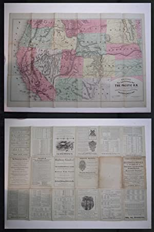 Williams' New Trans-Continental Map of The Pacific R.R. and Routes of Overland Travel to ...