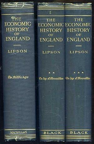 The Economic History of England (3 volume set): Lipson, E.