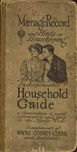 Marriage Record and Hints on Housekeeping: An Indispensable Household Guide