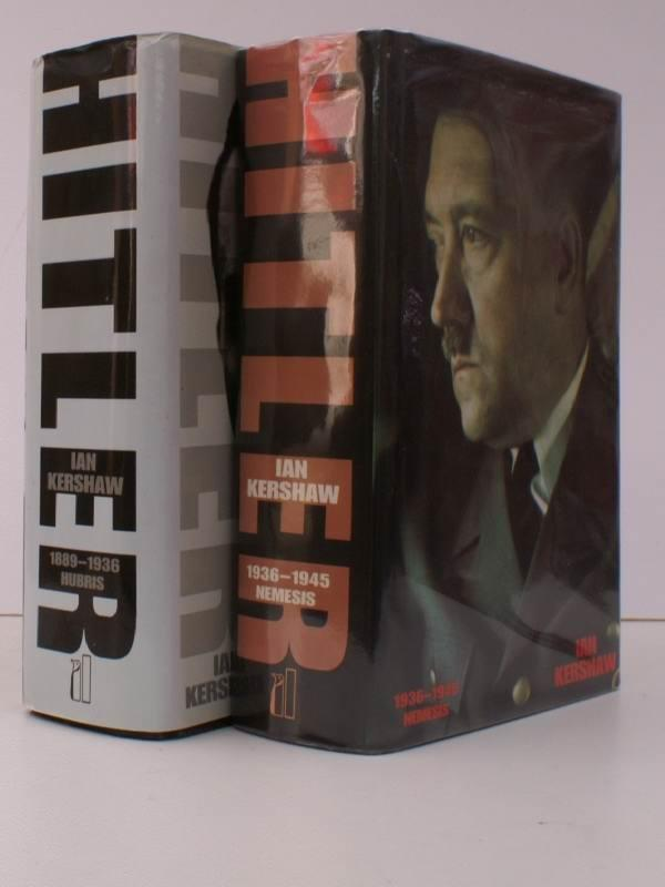 Hitler 1889-1936: Hubris [with] Hitler 1936-1945: Nemesis. THE ORIGINAL EDITION IN UNCLIPPED DUSTWRAPPERS (Adolf HITLER). Ian KERSHAW Hardcover