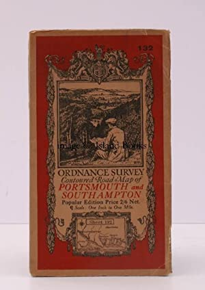 Ordnance Survey Contoured Road Map of Portsmouth and Southampton. Popular Edition. One Inch. Shee...