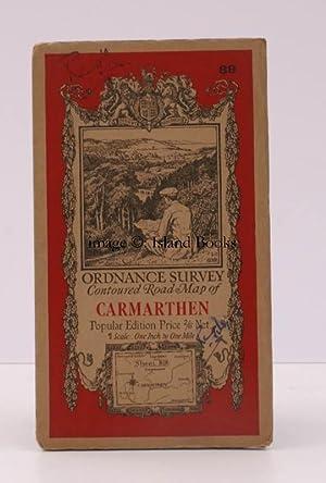 Ordnance Survey Contoured Road Map of Carmarthen. Popular Edition. One Inch. Sheet 89. [Ellis ...