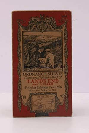 Ordnance Survey Contoured Road Map of Land's End and Lizard. Popular Edition. One Inch. Sheet 146...