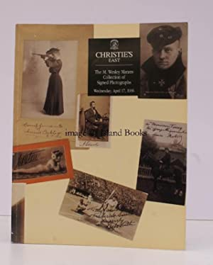 Sale Catalogue of] The M. Wesley Marans Collections of Signed Photographs. Wesley Marans ...