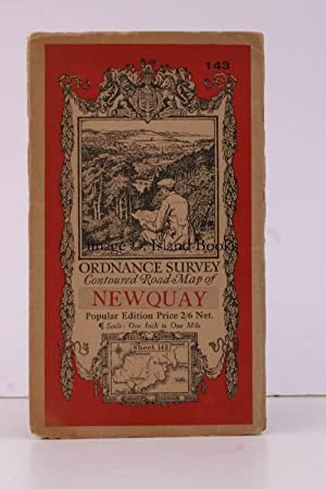 Ordnance Survey Contoured Road Map of Newquay. Popular Edition. One Inch, Sheet 143. [Ellis Marti...