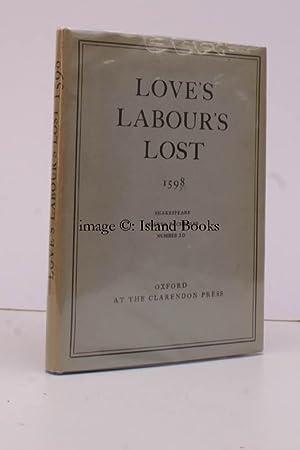 Love's Labour's Lost. 1598. Shakespeare Quarto Facsimiles No. 10. [Introduction by W.W. ...