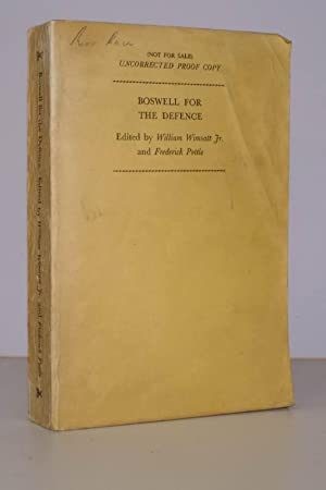 Boswell for the Defence 1769-1774. Edited by W.K. Wimsatt Jr. and F.A. Pottle. PROOF COPY: James ...